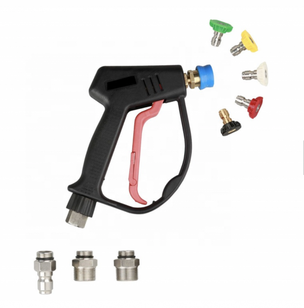 short pressure washer gun