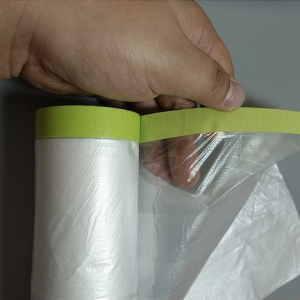 Paint Masking Film with Taped Edge